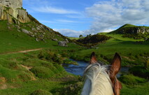 beautiful stream on a horses back